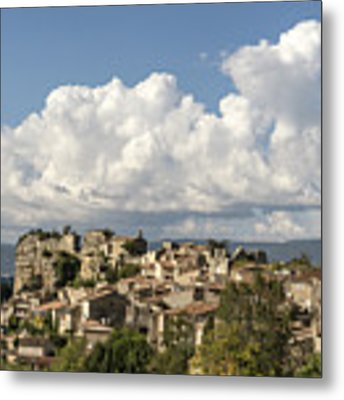 Saignon Village Provence  Metal Print by Juergen Held