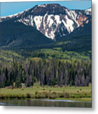 Sand Mountain From Steamboat Lake Metal Print by Philip Rodgers