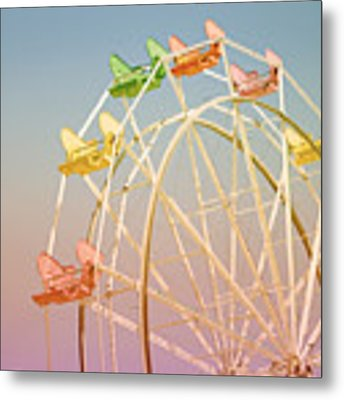 Santa Cruz Ferris Wheel Metal Print