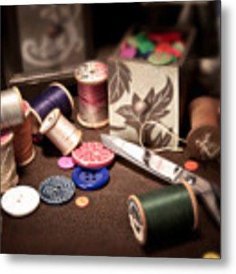 Sewing Notions I Metal Print by Tom Mc Nemar
