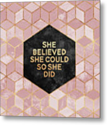 She Believed She Could Metal Print by Elisabeth Fredriksson