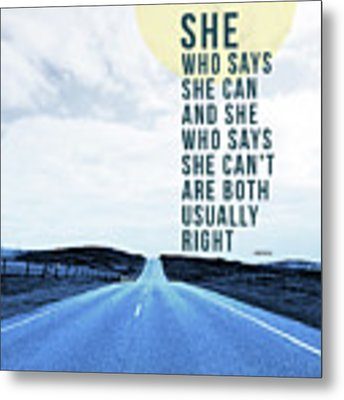 She Who Can- Art By Linda Woods Metal Print by Linda Woods