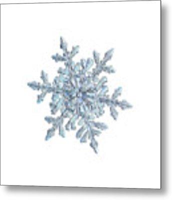 Snowflake 2018-02-21 N1 White Metal Print by Alexey Kljatov