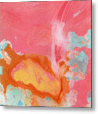 Somewhere New 2- Abstract Art By Linda Woods Metal Print by Linda Woods