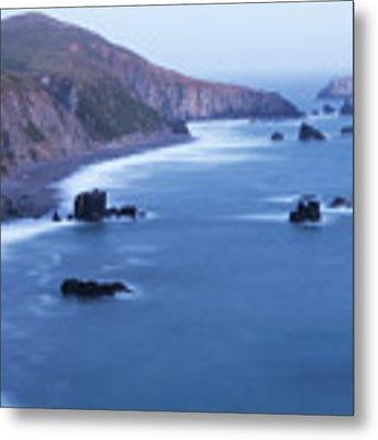 Sonoma Coastline After Dark Metal Print by Jim Thompson