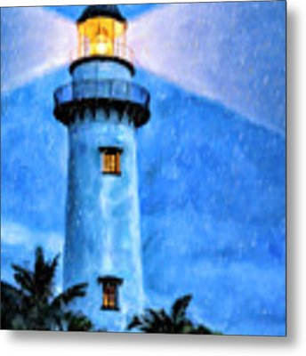 Lights On For You At St. Simons Metal Print by Mark Tisdale