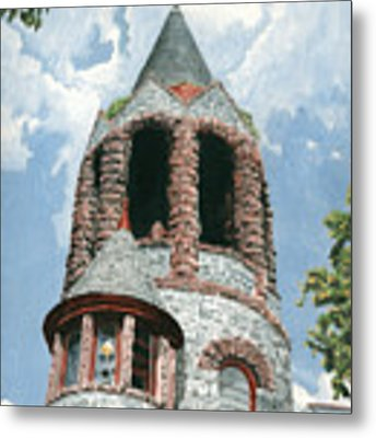Stone Church Bell Tower Metal Print by Dominic White