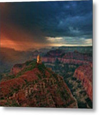 Storm Clouds North Rim Grand Canyon Arizona Metal Print by Dave Welling