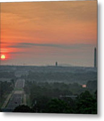 Sunrise From The Arlington House Metal Print by Cindy Lark Hartman
