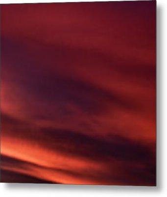 Sunrise Grazing Red Sky Morning Metal Print by Thomas R Fletcher