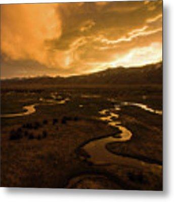 Sunrise Over Winding Rivers Metal Print by Wesley Aston