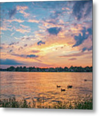 Sunset At Morse Lake Metal Print by Sophie Doell