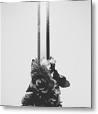Sword And Rose Metal Print by Desmond Manny