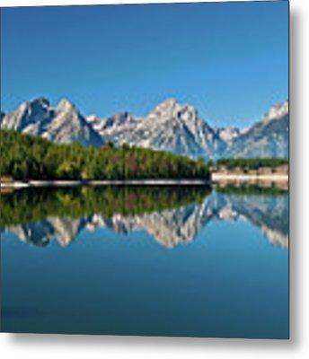 Teton Reflections II Metal Print by Gary Lengyel