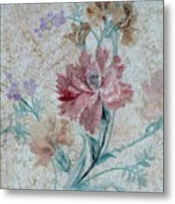 Textured Florals No.1 Metal Print by Writermore Arts