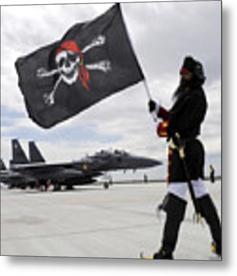 The 428th Fighter Squadron Buccaneer Metal Print by Stocktrek Images