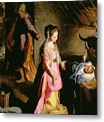 The Adoration Of The Child Metal Print