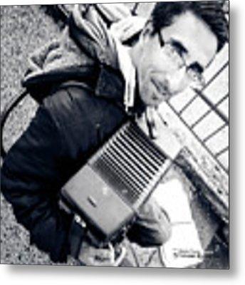 The Brave Accordion Player Metal Print by Stwayne Keubrick