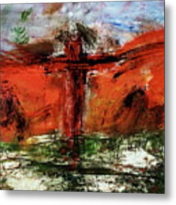 The Crucifixion #1 Metal Print by Michael Lucarelli