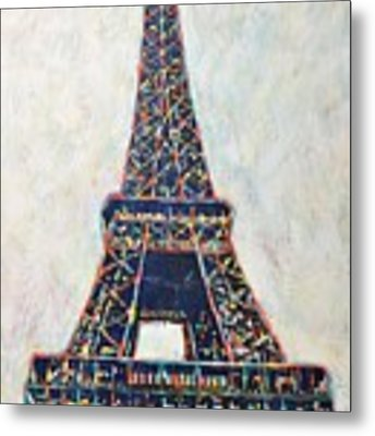 The Eiffel Tower Metal Print by Cristina Stefan