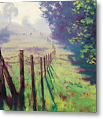 The Fence Line Metal Print