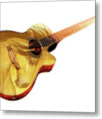 The Guitar Is A Lady Metal Print by Valerie Anne Kelly