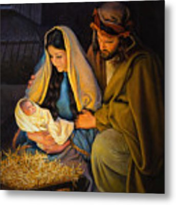 The Holy Family Metal Print by Greg Olsen