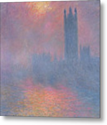 The Houses Of Parliament London Metal Print