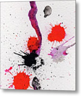The Inexplicable Ignition Of Time Expanding Into Free Space Phase Two Number 01 Metal Print by Mark M  Mellon