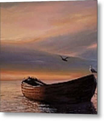 A Lone Boat Metal Print by Rosario Piazza