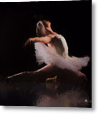 The Swan  Metal Print by Rosario Piazza