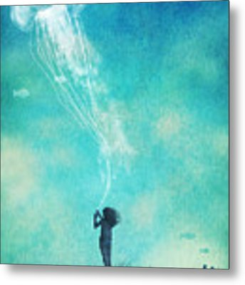 The Thing About Jellyfish Metal Print by Eric Fan