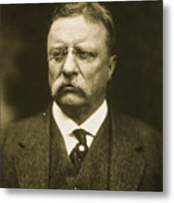 Theodore Roosevelt Metal Print by Artistic Panda