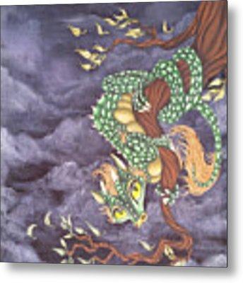 Tree Dragon Metal Print by Mary Hoy