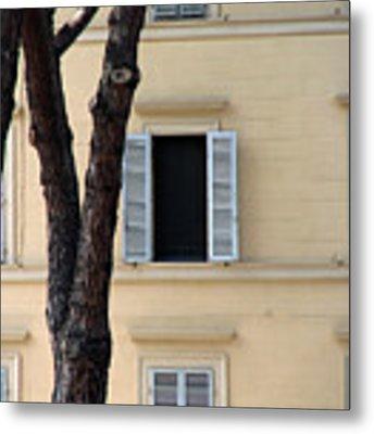 Tuscany Window Metal Print by Julian Perry