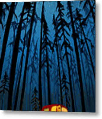 Twilight Camping Metal Print