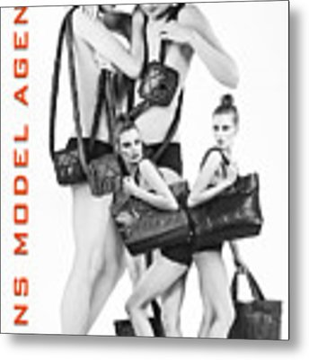 Twins Model Agency Metal Print by ISAW Company