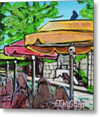 Umbrellas Metal Print by TM Gand