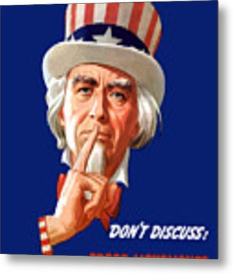 Uncle Sam - I'm Counting On You Metal Print