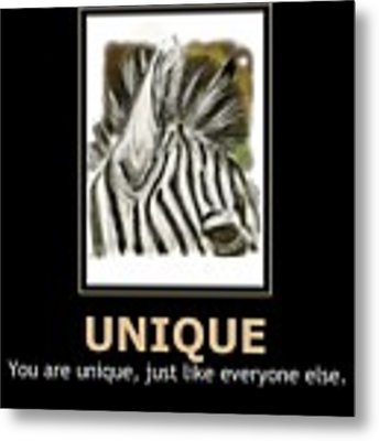 Unique Motivational Poster Metal Print by Darren Cannell
