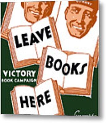 Victory Book Campaign - Wpa Metal Print
