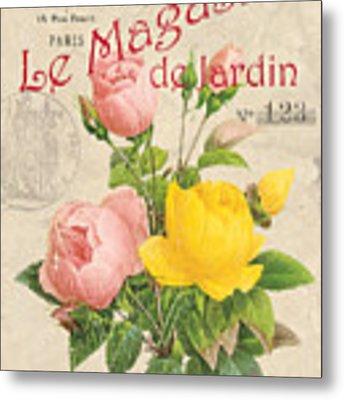 Vintage French Flower Shop 3 Metal Print by Debbie DeWitt
