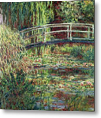 Waterlily Pond Metal Print by Claude Monet