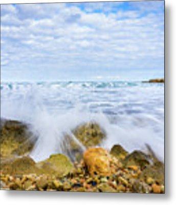 Wave Splash Metal Print by Gary Gillette