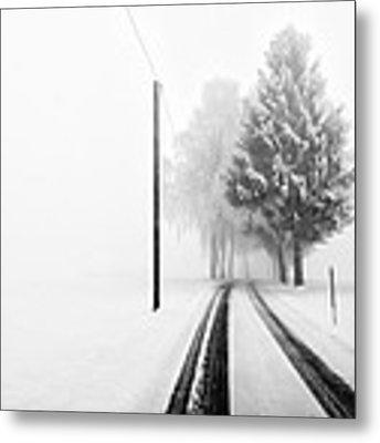 White Tree Gate Metal Print by Franz Bogner