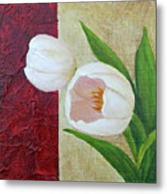 White Tulips Metal Print by Phyllis Howard