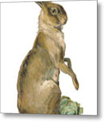 Wild Hare Metal Print by ReInVintaged