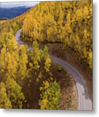 Winding Through Fall Metal Print by Wesley Aston