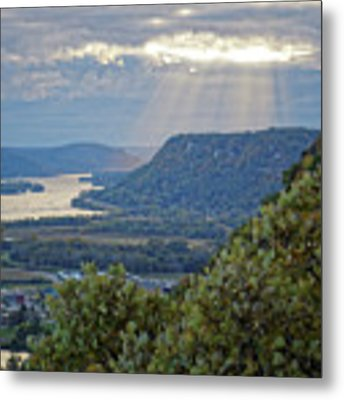 Winona Garvin Heights With Sunbeams Metal Print by Kari Yearous