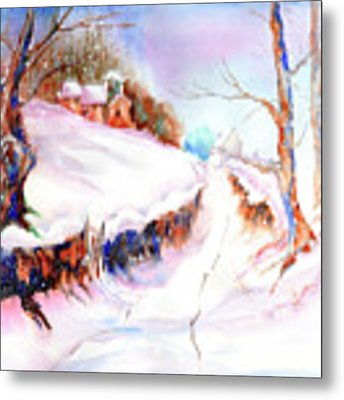 Winter Snow Metal Print by Xavier Francois
